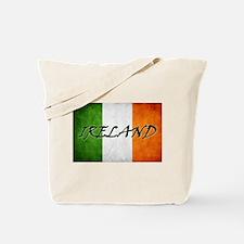 """IRELAND"" on Irish Flag Tote Bag"