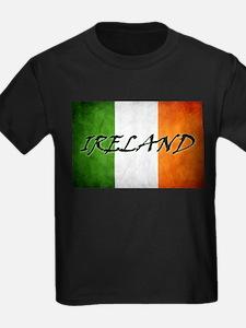 """""""IRELAND"""" on Irish Flag T"""