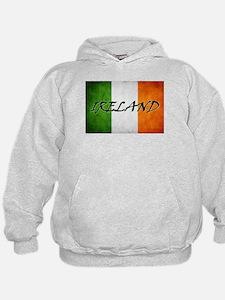 """IRELAND"" on Irish Flag Hoody"