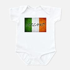 """""""IRELAND"""" on Irish Flag Infant Bodysuit"""