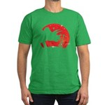 Triceratops Men's Fitted T-Shirt (dark)