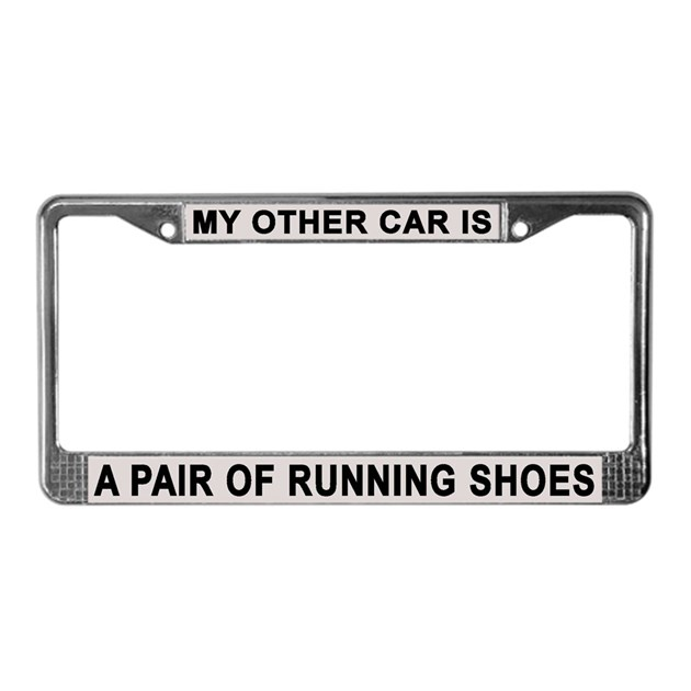 Running Shoes License Plate Frame By Curiousmelange