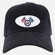 USA & DRC Flags with State Logo Baseball Hat