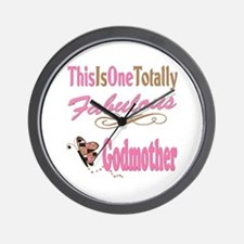 Totally Fabulous Godmother Wall Clock