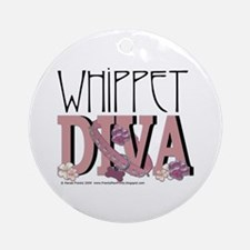 Whippet DIVA Ornament (Round)