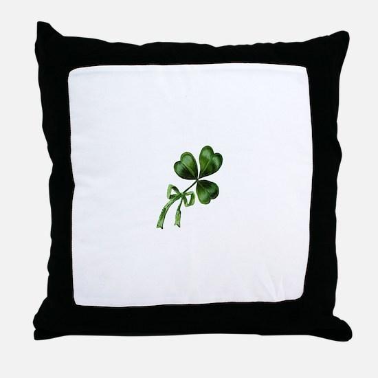 Vintage Shamrock Throw Pillow