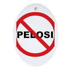 Anti Pelosi Ornament (Oval)