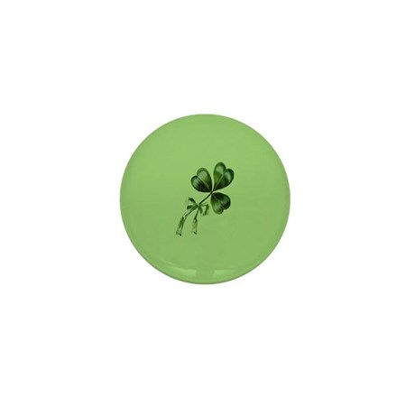 Vintage Shamrock Green Mini Button (10 pack)