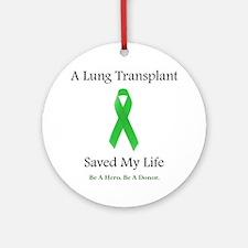 Lung Transplant Survivor Ornament (Round)