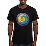 Tidal Dog Men's Fitted T-Shirt (dark)