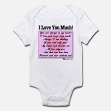 I Love You Much Onesie