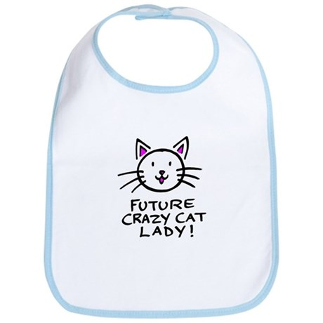 Future Crazy Cat Lady Bib