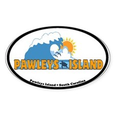 Pawleys Island SC - Waves Design Decal