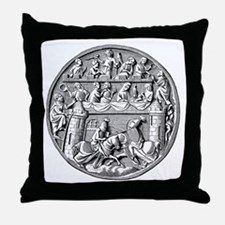 Jousting Knights Throw Pillow