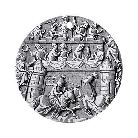 Jousting Knights Ornament (Round)