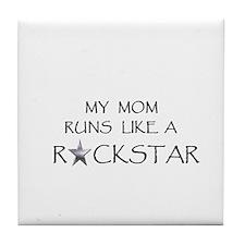Rockstar Mom Tile Coaster