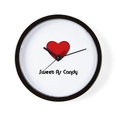 SWEET AS CANDY (HEART) Wall Clock