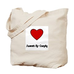 SWEET AS CANDY (HEART) Tote Bag