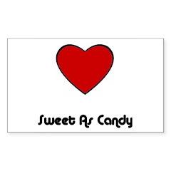 SWEET AS CANDY (HEART) Rectangle Sticker
