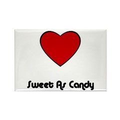 SWEET AS CANDY (HEART) Rectangle Magnet