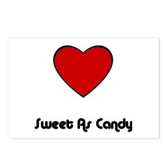 SWEET AS CANDY (HEART) Postcards (Package of 8)