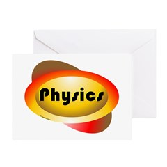 Physics Oval Greeting Card