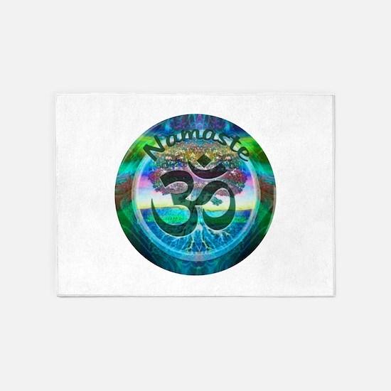 Namaste Symbol 5'x7'Area Rug