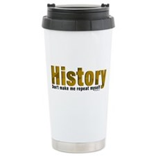 Brown Repeat History Travel Mug