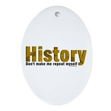 Brown Repeat History Ornament (Oval)