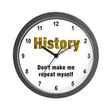 Brown Repeat History Wall Clock