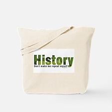 Green Repeat History Tote Bag