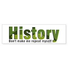 Green Repeat History Bumper Sticker