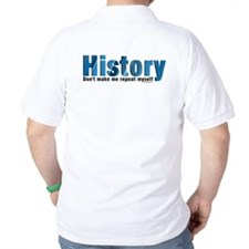 Blue Repeat History (back image) T-Shirt