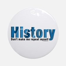 Blue Repeat History Ornament (Round)