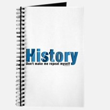 Blue Repeat History Journal