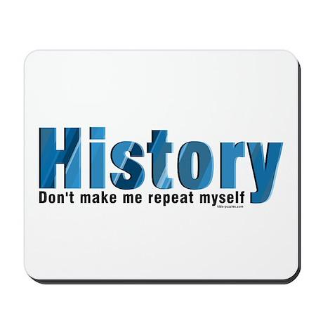 Blue Repeat History Mousepad