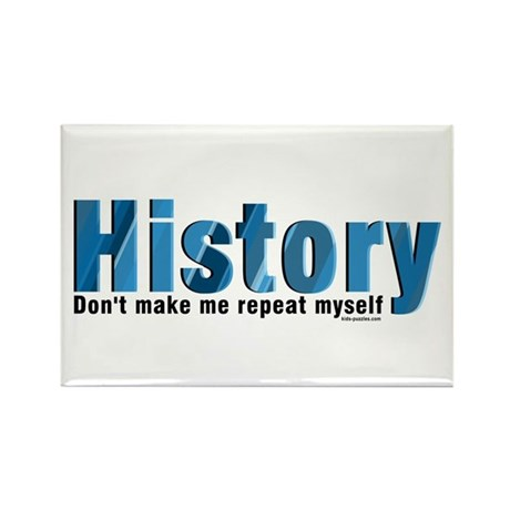 Blue Repeat History Rectangle Magnet (10 pack)