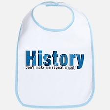 Blue Repeat History Bib