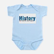 Blue Repeat History Infant Bodysuit