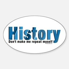 Blue Repeat History Sticker (Oval)