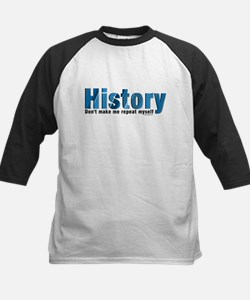 Blue Repeat History Tee