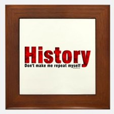 Repeat History Red Framed Tile