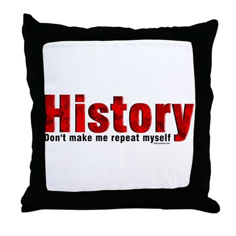 Repeat History Red Throw Pillow