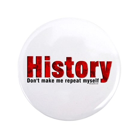 "Repeat History Red 3.5"" Button (100 pack)"