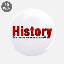 "Repeat History Red 3.5"" Button (10 pack)"