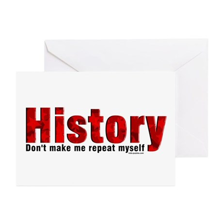 Repeat History Red Greeting Cards (Pk of 10)