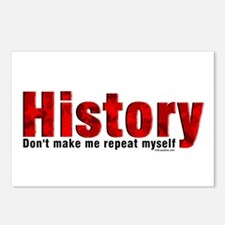 Repeat History Red Postcards (Package of 8)
