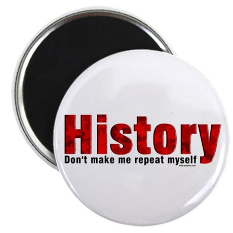 "Repeat History Red 2.25"" Magnet (10 pack)"