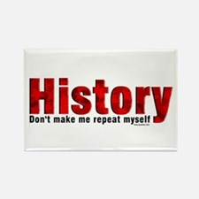Repeat History Red Rectangle Magnet (100 pack)