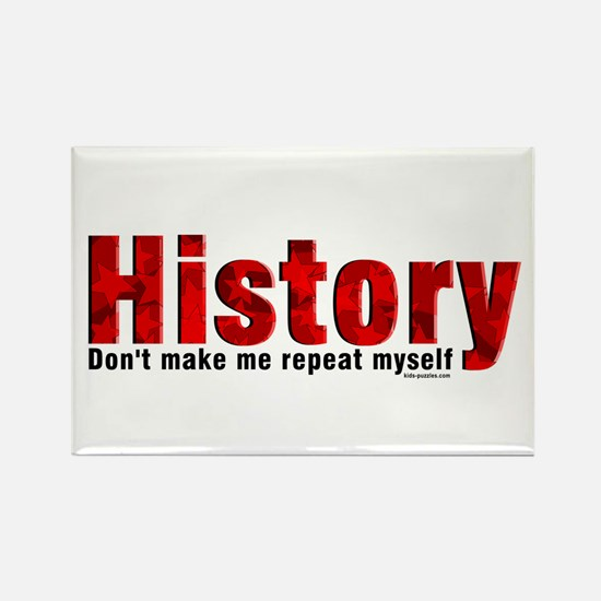 Repeat History Red Rectangle Magnet